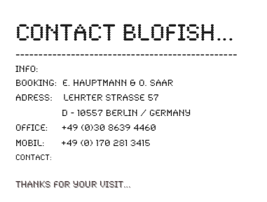 Contact BLOFISH...